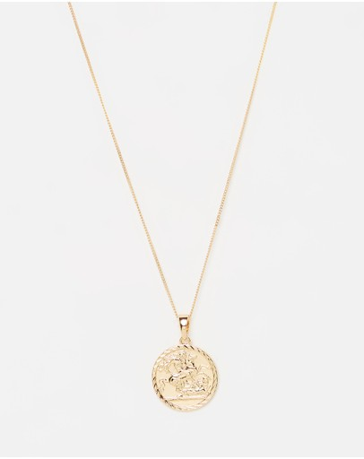 Chained & Able Sovereign Medallion Necklace Gold