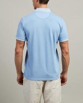 Gant Sunbleached Pique SS Rugger Polo - Shirts & Polos (Capri Blue)