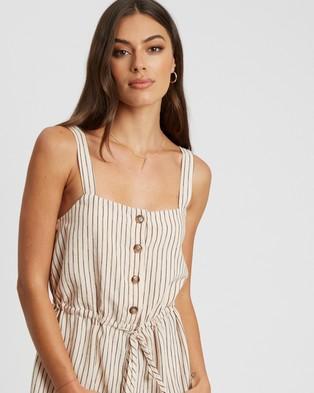 Calli Billie Playsuit - Jumpsuits & Playsuits (Nude & Black Stripe)
