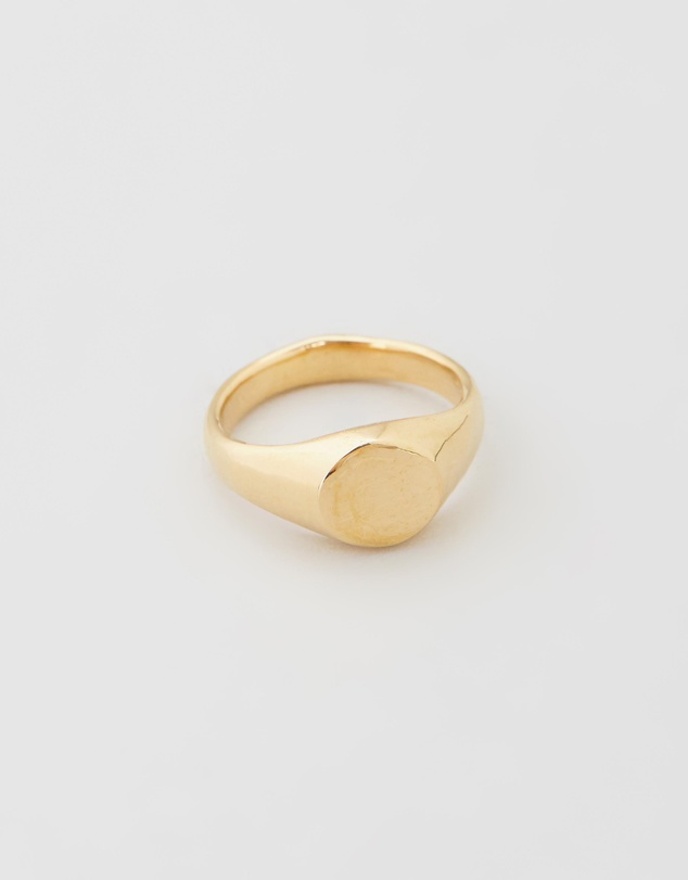 Heart of Bone - Small Circle Signet Ring