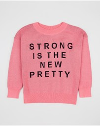 Gardner and the Gang - The Knitted Strong Is The New Pretty Jumper - Kids