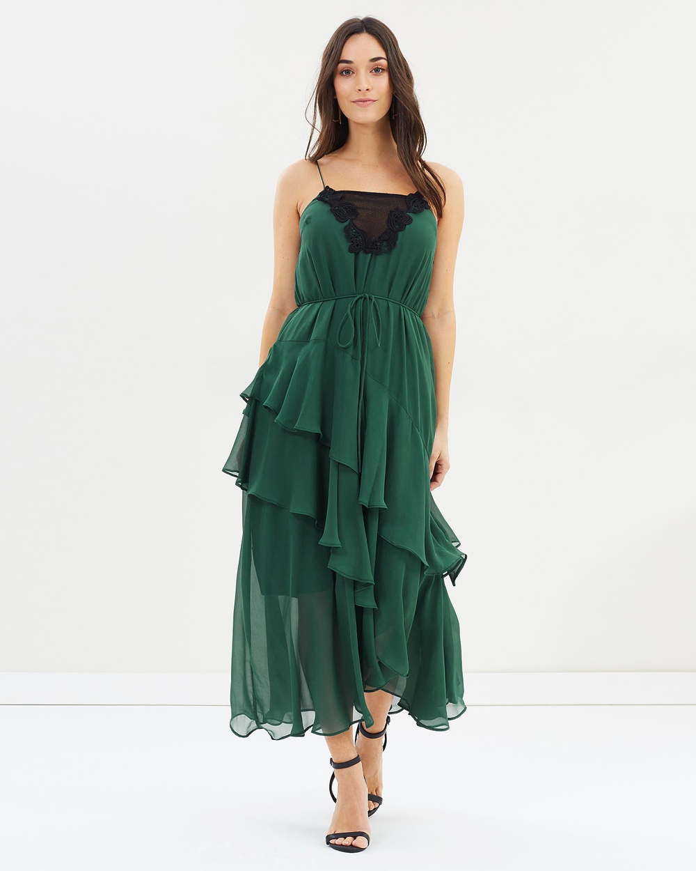 Cooper St Lucille Tie Midi Dress Dresses Evergreen Lucille Tie Midi Dress