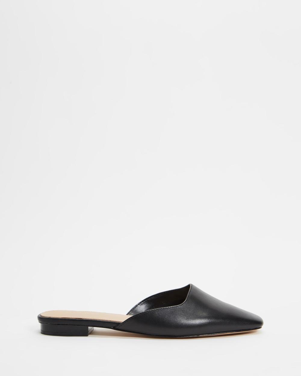 ALDO Alyssaa Pointed Toe Mules Flats Black