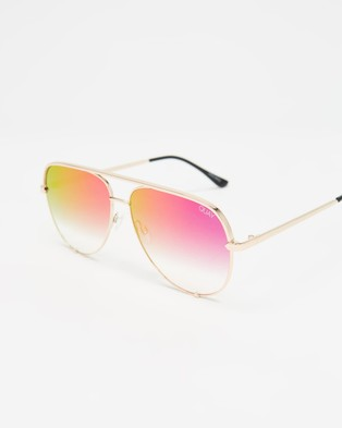 Quay Australia High Key - Sunglasses (Gold & Black Mirror)