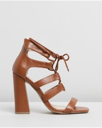 Missguided - Ghille Flared Block Sandal Heels