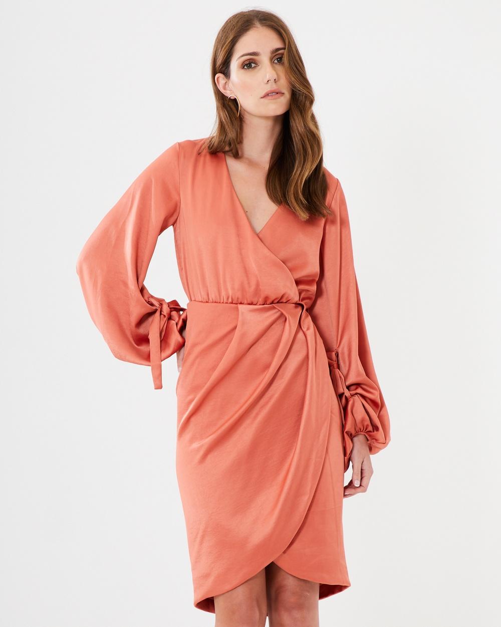 CHANCERY Cheryl Bell Sleeve Midi Dress Dresses Terracotta Cheryl Bell Sleeve Midi Dress