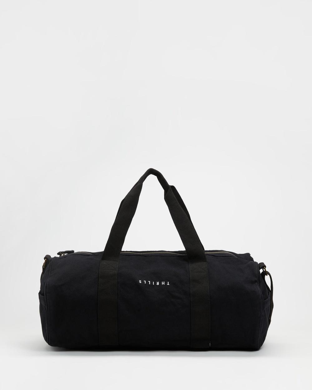 Thrills Minimal Road Duffle Bags Black