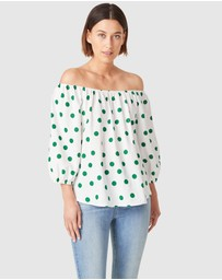 French Connection - Spot Off Shoulder Top