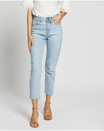 ONLY - Emily High-Waisted Straight Crop Ankle Denim Jeans