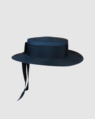 Morgan & Taylor Jordyn Boater Hat - Hats (Navy)