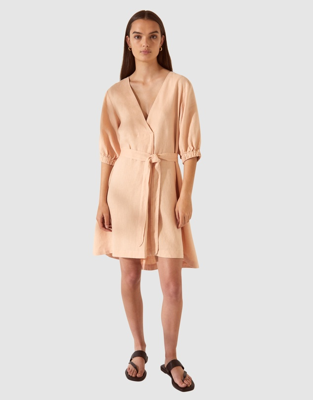 SABA - SB Lila Linen Tie Mini Dress
