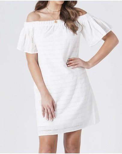 Amelius Isabel Shift Mini Dress White