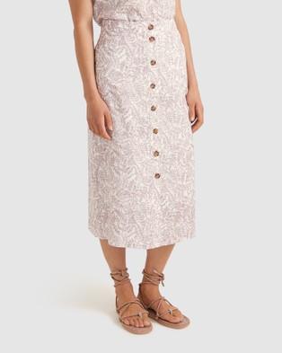 Sportscraft Montgomery Linen Liberty Skirt - Skirts (pink)