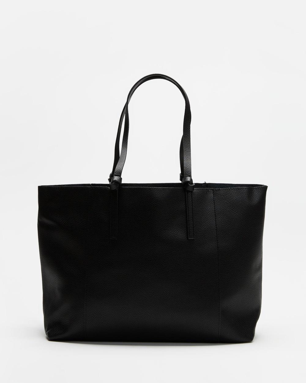 M.N.G Placa Tote Bag Bags Black