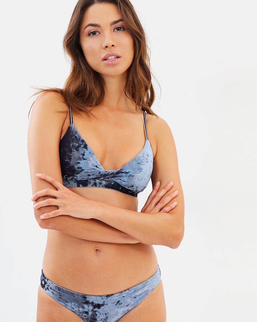 Seafolly Dawn to Dusk Twist Front Bralette Bikini Tops Bluestone Dawn to Dusk Twist Front Bralette