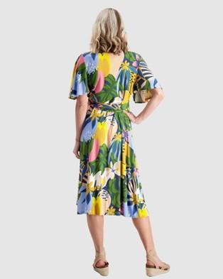 Maive & Bo Kasey x Maive Maternity and Nursing Wrap Dress - Dresses (Multi)