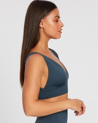 BONDI BORN Vicki Bikini Top - Bikini Tops (Slate)