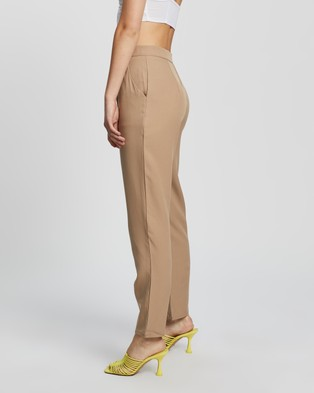 Missguided Tailored Co Ord Cigarette Trousers - Pants (Camel)