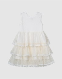 Designer Kidz - Poppy S/S Tiered Tulle Dress