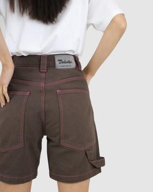 Dakota501 Carpenter Shorts - Denim (Chocolate)