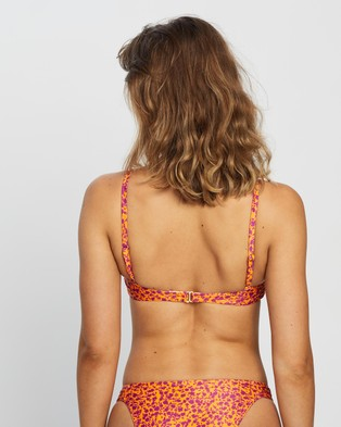 Peony Ruched Crop - Bikini Tops (Garden Party)