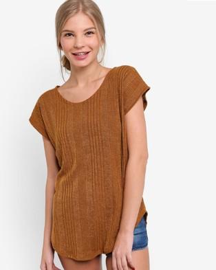 BoyFromBlighty – Knit Tunic Top – Tops (Sand)