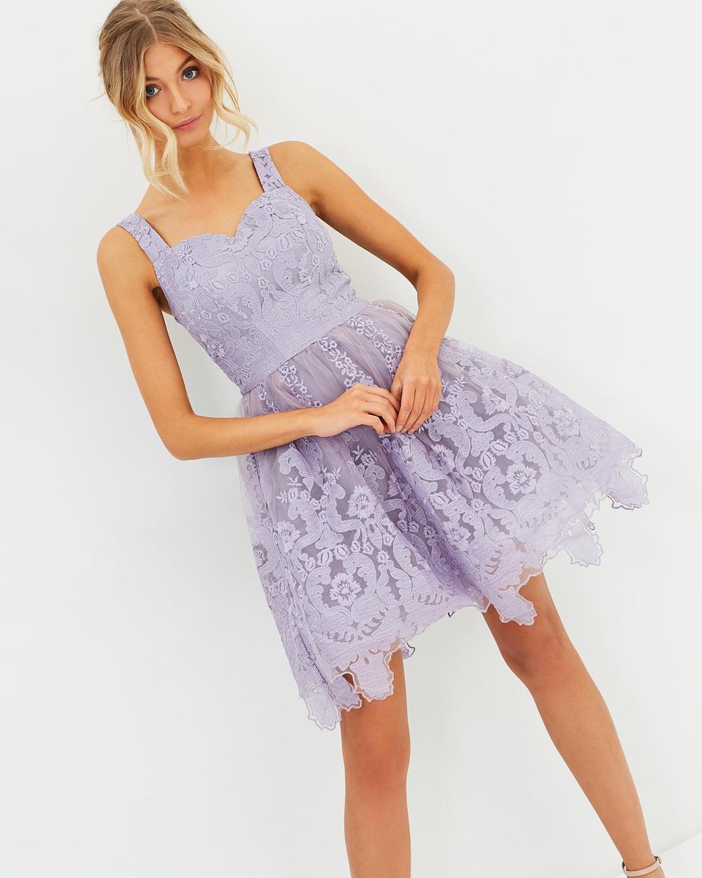 Chi Chi London Elisha Dress Dresses Purple Elisha Dress