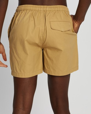 AERE Organic Cotton Club Shorts Desert
