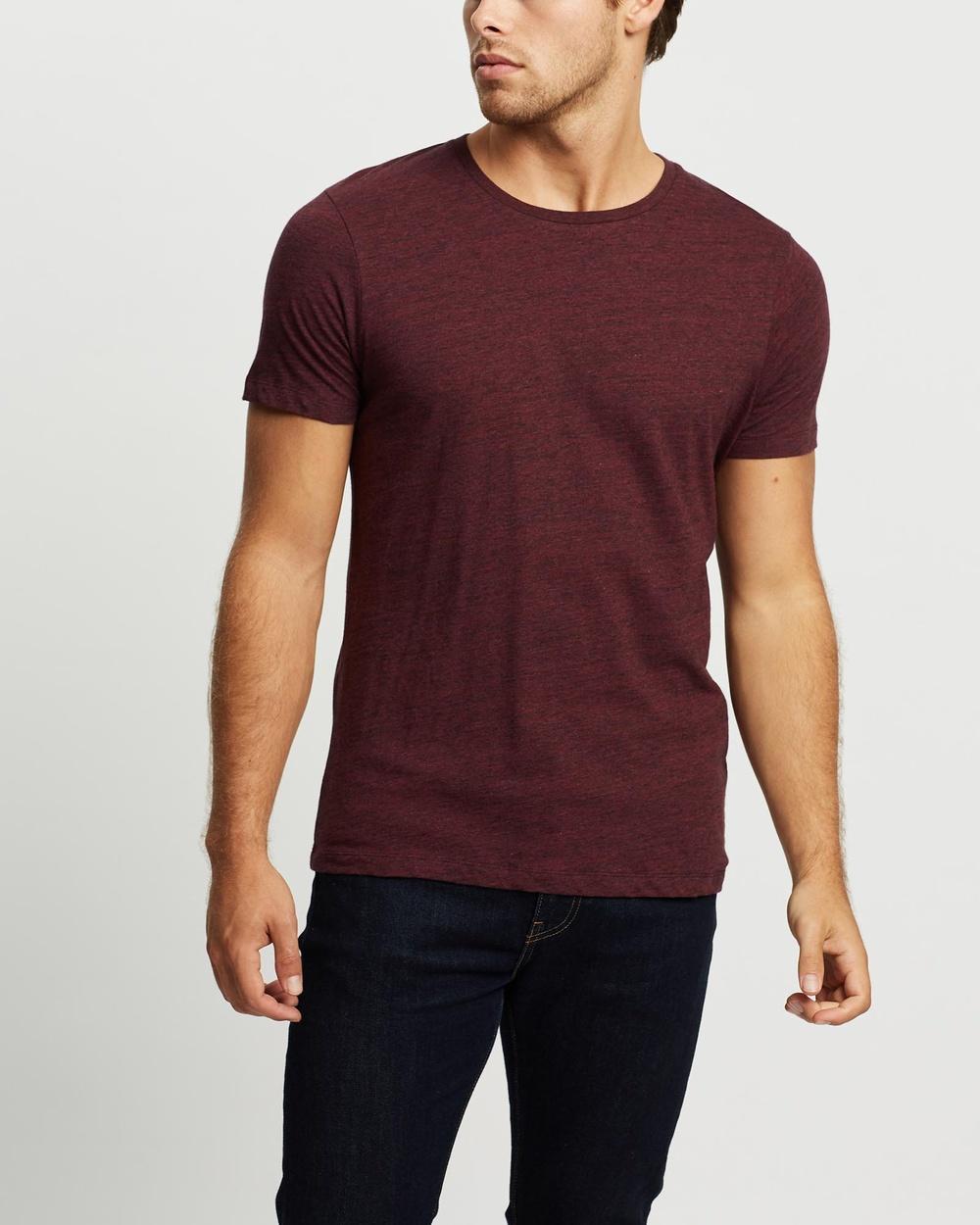 Marcs - Marle Brando Crew T Shirt - T-Shirts & Singlets (Berry Marle) Marle Brando Crew T-Shirt