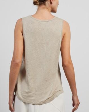 American Vintage U Collar Vest - T-Shirts & Singlets (Cement)