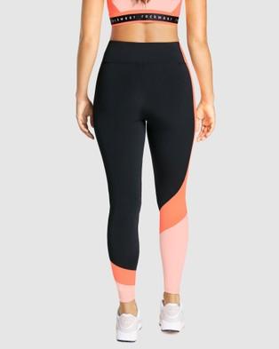 Rockwear Just Peachy Colour Blocked Full Length Tights - Full Tights (BLACK)