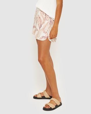 Jag Nat Linen Silk Printed Shorts - High-Waisted (Multi)
