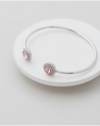 Mestige - Ayla Bangle with Pink Swarovski® Crystals