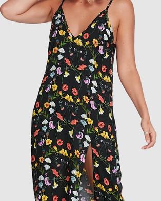 RVCA Border Midi Dress - Dresses (BLACK)