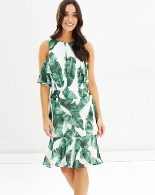 Cooper St – Tropic Ruffle Mini Dress – Printed Dresses Print