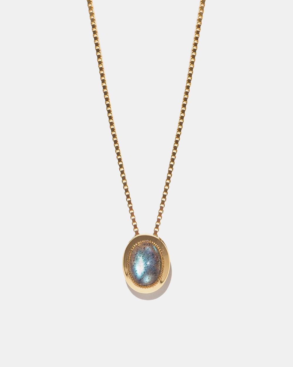 Aletheia & Phos Estelle Necklace Jewellery Gold Labradorite