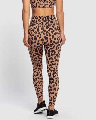 All Fenix Oversized Cheetah 7 8 Leggings - 7/8 Tights (Tan & Black)