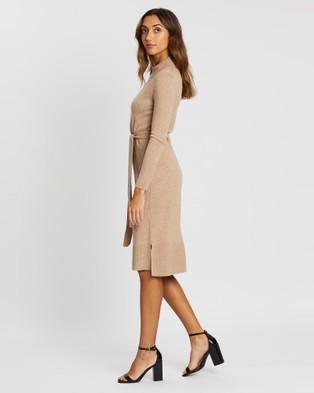 Sportscraft Anne Wool Cashmere Dress - Dresses (brown)