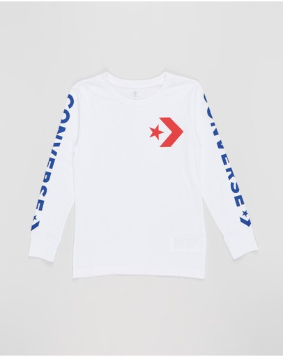 Converse - Star Chevron Wordmark LS Tee - Teens