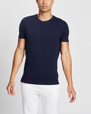 Polo Ralph Lauren SS Crew Undershirt 3 Pack - T-Shirts & Singlets (Navy, Sapphire & Bermuda Blue)