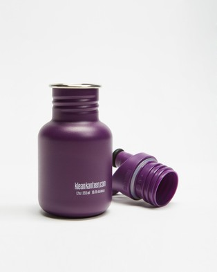 Klean Kanteen 12oz Classic Kids Sports Cap Bottle - Water Bottles (Grape Jelly)