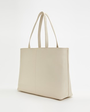 Fall The Label Squared Ivory Tote Bag - Bags (Ivory)