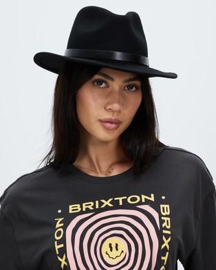 Brixton Messer Fedora - Hats (Black)