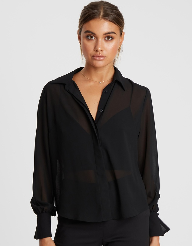 Reux - Pierce Pleat Sleeve Shirt