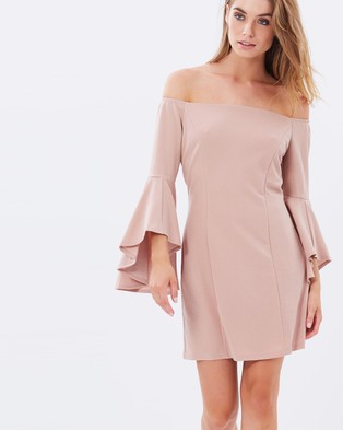 Sass – Gellar Shoulder Dress – Dresses (Dusty Pink)