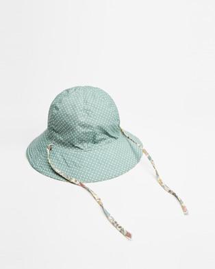 Acorn Kids Australiana Floral Reversible Hat   Kids - Hats (Cream & Multi)