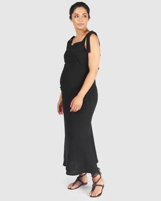 Pea in a Pod Maternity Bria Tie Nursing Dress - Dresses (Black)