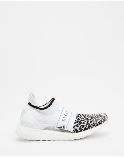 Adidas By Stella Mccartney Ultraboost X 3.d. Knit - Women's Core Black Footwear White & Solar Orange
