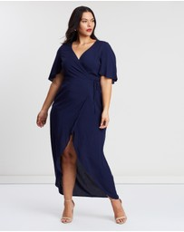 Atmos&Here Curvy - ICONIC EXCLUSIVE - Lina Wrap Maxi Dress