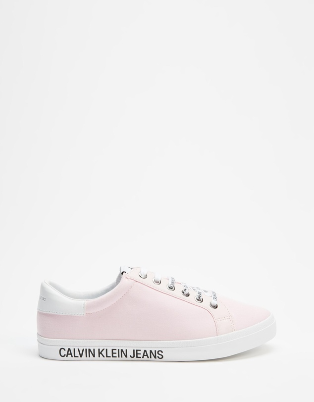 Calvin Klein Jeans - Low Profile Lace-Up Sneakers - Women's